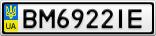 Номерной знак - BM6922IE
