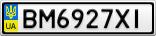Номерной знак - BM6927XI