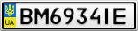 Номерной знак - BM6934IE