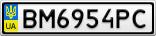 Номерной знак - BM6954PC