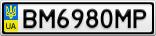 Номерной знак - BM6980MP