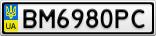 Номерной знак - BM6980PC