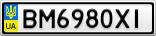 Номерной знак - BM6980XI