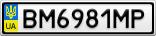 Номерной знак - BM6981MP