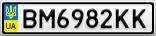 Номерной знак - BM6982KK