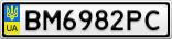 Номерной знак - BM6982PC