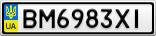 Номерной знак - BM6983XI