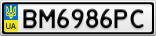 Номерной знак - BM6986PC