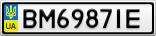 Номерной знак - BM6987IE