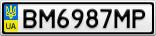 Номерной знак - BM6987MP