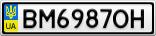 Номерной знак - BM6987OH
