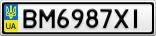 Номерной знак - BM6987XI