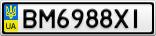 Номерной знак - BM6988XI