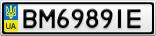 Номерной знак - BM6989IE
