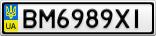 Номерной знак - BM6989XI