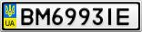 Номерной знак - BM6993IE