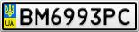 Номерной знак - BM6993PC