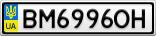 Номерной знак - BM6996OH
