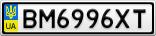 Номерной знак - BM6996XT