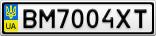 Номерной знак - BM7004XT