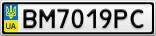 Номерной знак - BM7019PC