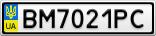 Номерной знак - BM7021PC