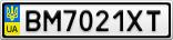 Номерной знак - BM7021XT