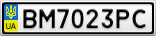 Номерной знак - BM7023PC