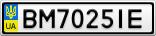 Номерной знак - BM7025IE