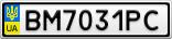 Номерной знак - BM7031PC