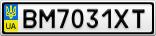 Номерной знак - BM7031XT