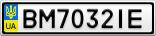 Номерной знак - BM7032IE