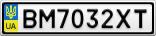Номерной знак - BM7032XT