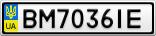 Номерной знак - BM7036IE