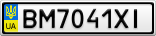 Номерной знак - BM7041XI