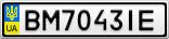 Номерной знак - BM7043IE