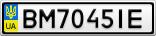 Номерной знак - BM7045IE