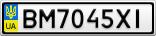 Номерной знак - BM7045XI