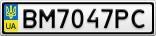 Номерной знак - BM7047PC