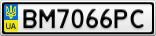 Номерной знак - BM7066PC