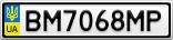 Номерной знак - BM7068MP