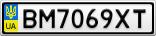 Номерной знак - BM7069XT