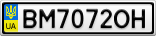 Номерной знак - BM7072OH