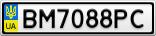 Номерной знак - BM7088PC