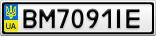 Номерной знак - BM7091IE