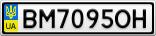 Номерной знак - BM7095OH