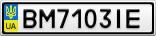 Номерной знак - BM7103IE