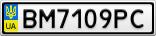 Номерной знак - BM7109PC