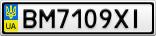 Номерной знак - BM7109XI