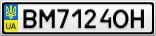 Номерной знак - BM7124OH